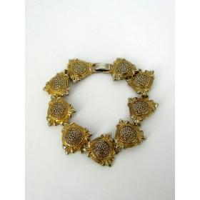 Bracelet Vintage Médaillon Dorée Bombé