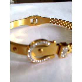 Bracelet Doré Vintage avec Zirconium