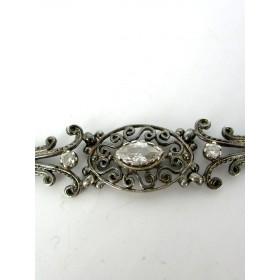 Bracelet  Ancien  Forme Ovale avec Cristal