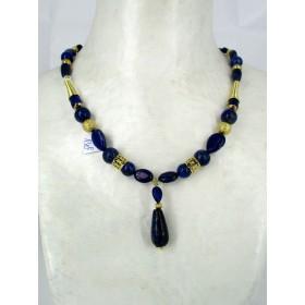 Pendentif Goutte avec Pierres de Lapis Lazuli