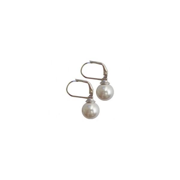 Boucles d'Oreilles Vintage Serties de Perles de Culture