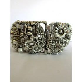 Bracelet Vintage Art Déco en Rhodium