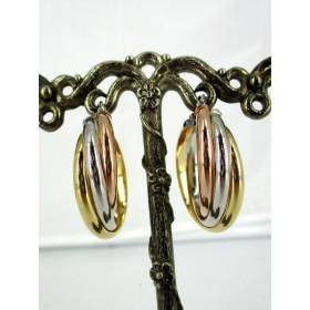 Boucles d'oreilles Créoles Vintage en Vermeil