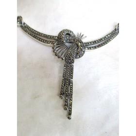 Collier Style Art Déco Torsadé en Argent 925