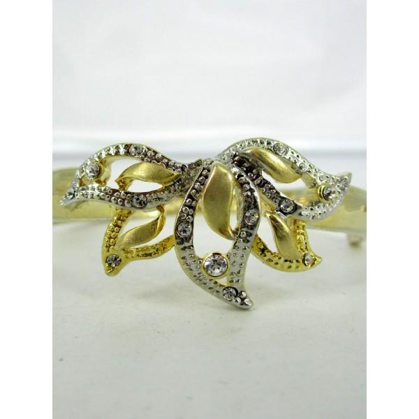 Bracelet Vintage Doré en Strass