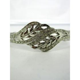 Bracelet Vintage Argenté en Strass