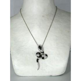 Collier Serpent Vintage en Zirconium
