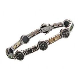 Bracelet Femme Vintage Argent avec Améthyste et Citrine