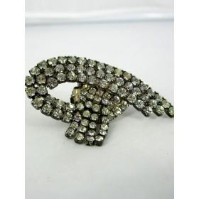 Boucles d'Oreilles à Clips pour Femme Vintage en Strass Originales