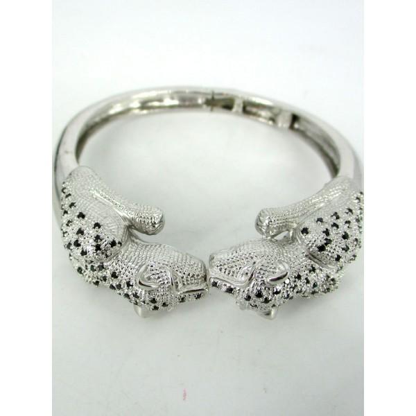 Bracelet Vintage Panthère en Argent et Zirconium