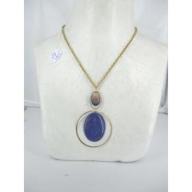 Pendentif Vintage avec Pierres en Lapis Lazuli