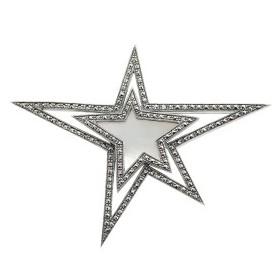 Broche étoile en Argent et Nacre