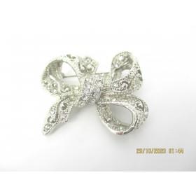 Broche Papillon Vintage avec Zirconium