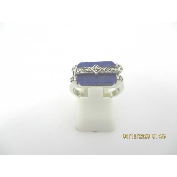 Bague rétro en Argent 925 et Lapis lazuli