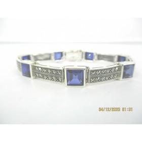 Bracelet Rétro en argent et Zirconium