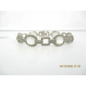 Bracelet femme Art déco en Argent 925 et Nacre