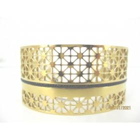 Bracelet Vintage Ajouré en Plaqué Or