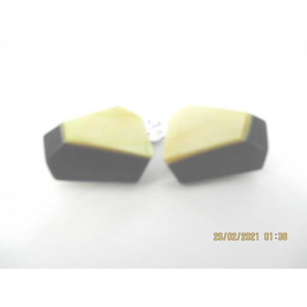 Boucles d'Oreilles Clip Vintage en résine et Nacre