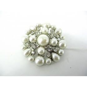 Broche Vintage Ornée de Perles