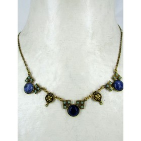Collier art déco avec pierres de lapis Lazuli