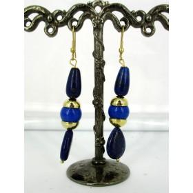 Boucles d'oreilles avec pierres Lapis lazuli