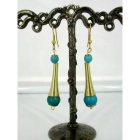 Boucles d'Oreilles avec Pierres en Turquoise