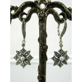 Boucles d' Oreilles étoiles avec Perles