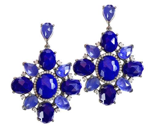 Fausse pierre de lapis lazuli en verre